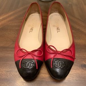CHANEL women's shoes loafers leather flats